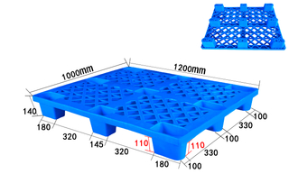 1200*1000mm Nine Legs 4-Way Entry Grid Deck Perforated Plastic Pallets