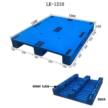 Flat Deck Three Runner Industrial Size Plastic Pallets